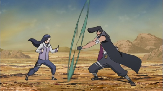 Hinata battles Kazami