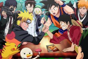 Anime Arm Wrestle Naruto Luffy Goku Ichigo