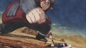 Choji's Punch vs Sakura