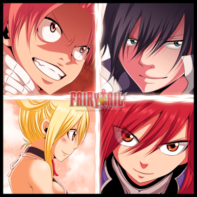 Fairy Tail 430 Erza Natsu Gray Lucy by tofiqhuseynov