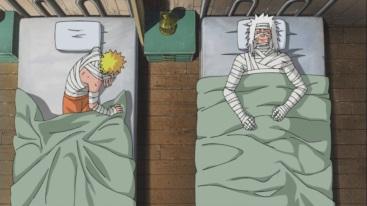 Naruto and Jiraiya hurt