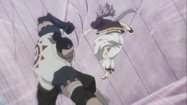 Natsu escapes Doriate attack