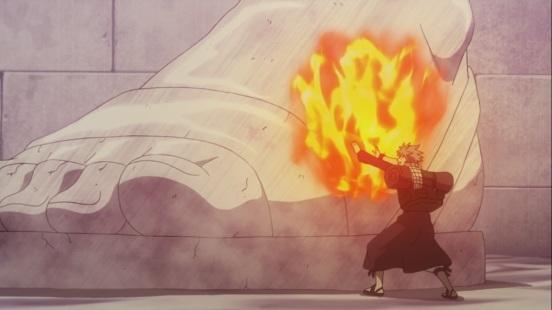 Natsu tries to melt ice