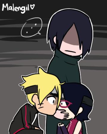 Sasuke stops Boruto kissing Sarada