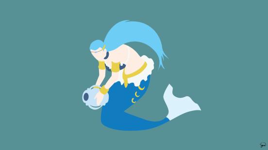 Aquarius Fairy Tail Minimalistic Wallpaper by greenmapple17