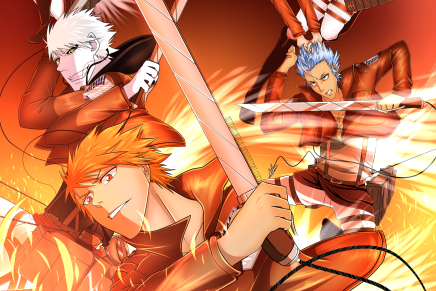 Let's Battle Titans – Ichigo/Hollow, Grimmjow, Rukia & Orihime