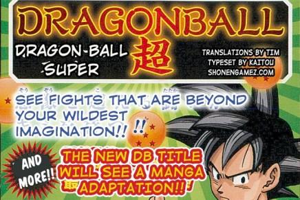 Manga Adaption For Dragon Ball SuperAnime