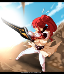 Fairy Tail 431 Erza by designerrenan