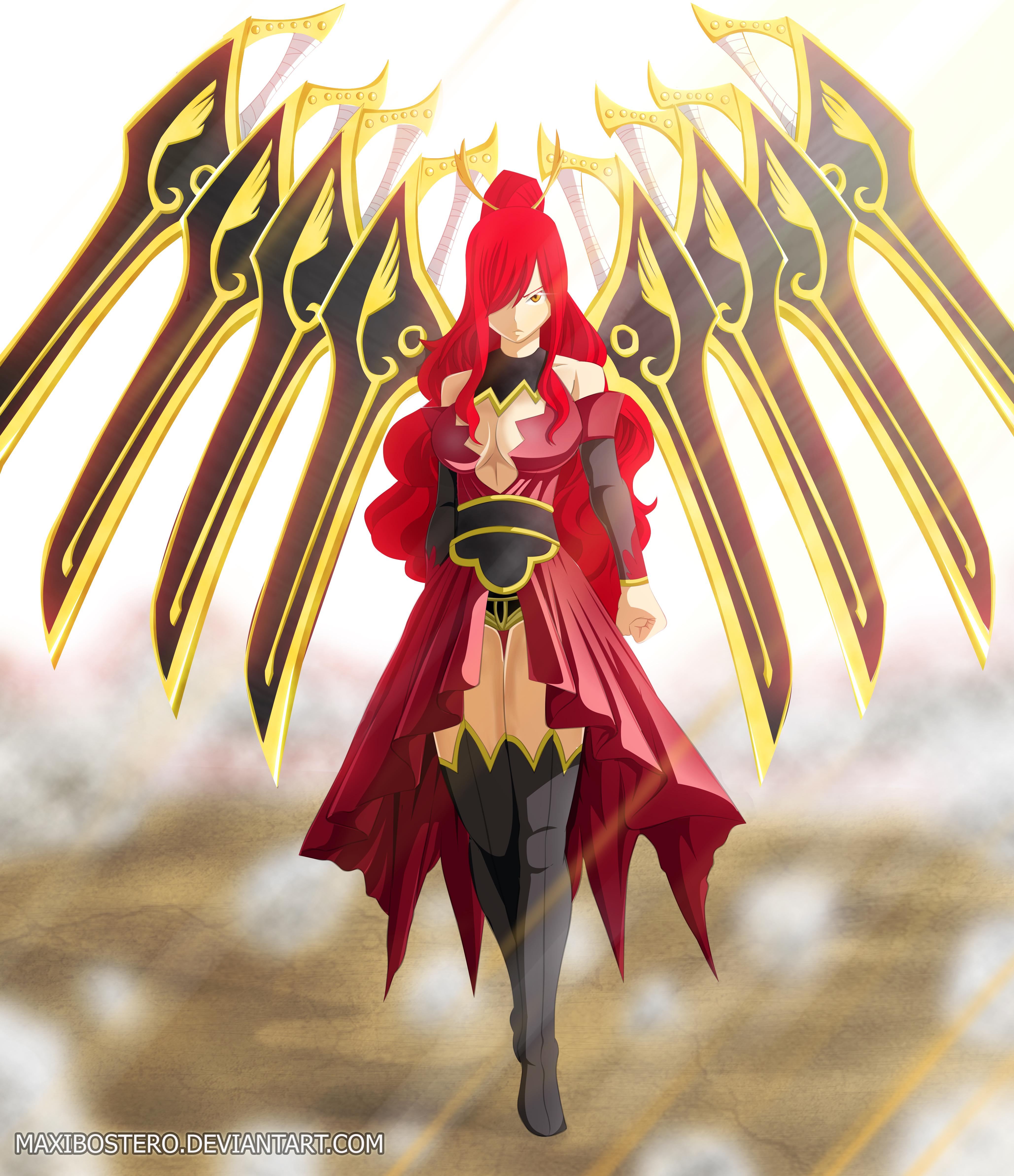 Fairy Tail 431 Erza By Maxibostero Daily Anime Art