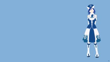 Juvia Lockser Fairy Tail Minimalistic Wallpaper by greenmapple17