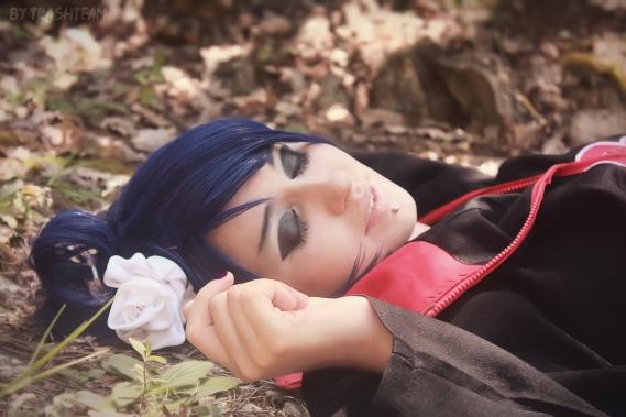 Konan sleeps cosplay by JulieFiction