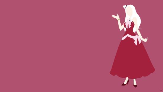 Mirajane Strauss Fairy Tail Minimalistic Wallpaper by greenmapple17