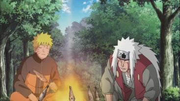 Naruto and Jiraiya train