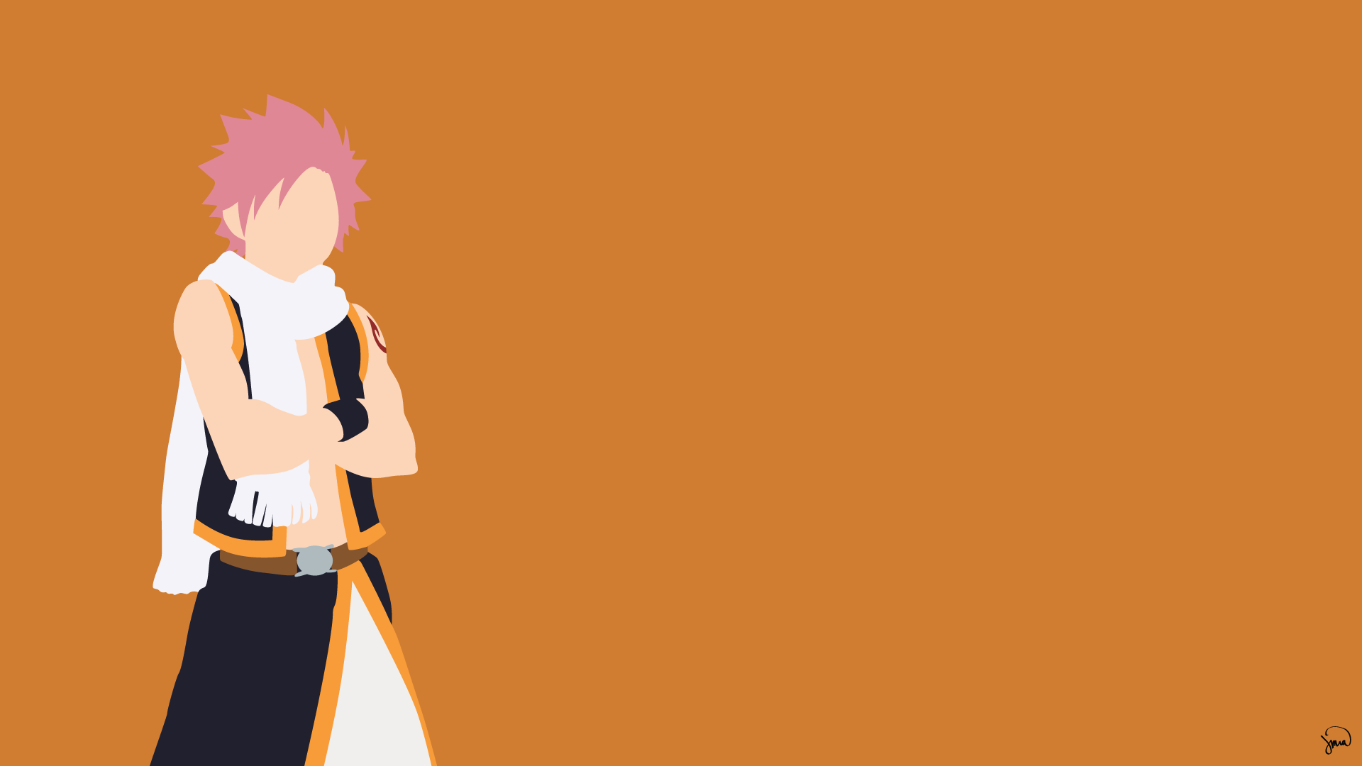 Natsu Dragneel Fairy Tail Minimalistic Wallpaper by ...
