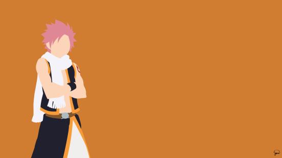 Natsu Dragneel Fairy Tail Minimalistic Wallpaper by greenmapple17