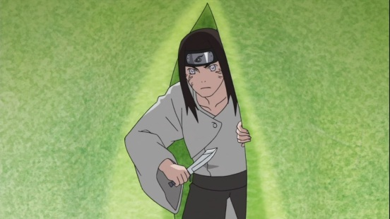 Neji goes into cacoon