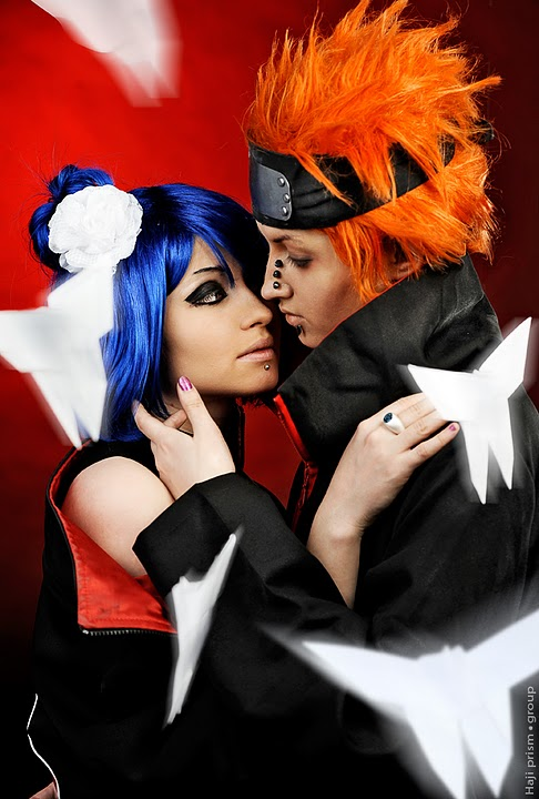 Pain and Konan Cosplay by JulieFiction