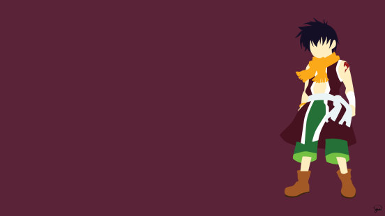 Romeo Conbolt Fairy Tail Minimalistic Wallpaper by greenmapple17