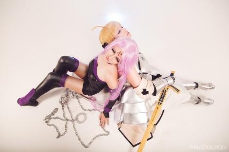 Saber and Rider cosplay by kawaielli