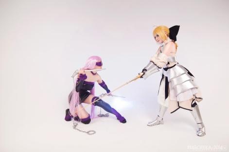 Saber Rider Cosplay Battle by kirikosan