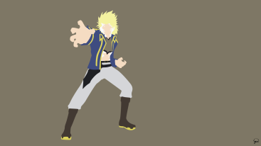Sting Eucliffe Fairy Tail Minimalistic Wallpaper by greenmapple17