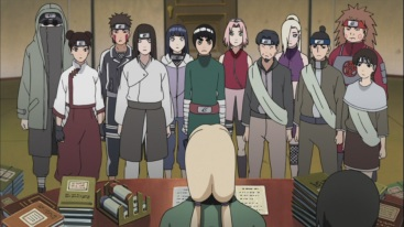 Tsunade promotes some members naruto shippuden 413