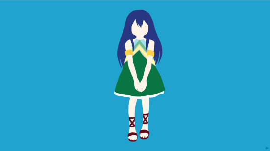 wendy Marvell Fairy Tail Minimalistic Wallpaper by greenmapple17