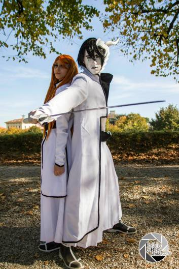 Bleach Cosplay Ulquiorra and Orihime by Asteria91