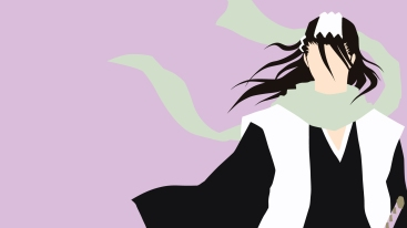 Byakuya Kuchiki Bleach Minimalistic Wallpaper by matsumayu