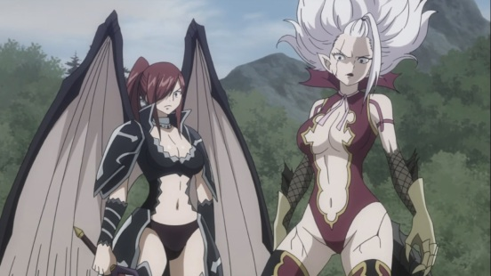 Erza and Mirajane Power Up