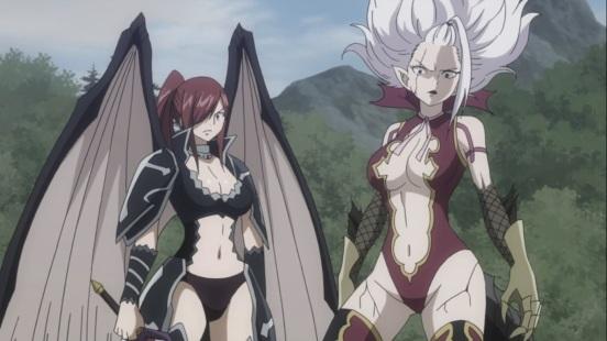 Erza and Mirajane Power Up