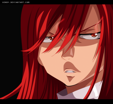 Fairy Tail 438 Erza Back to work by Uendy