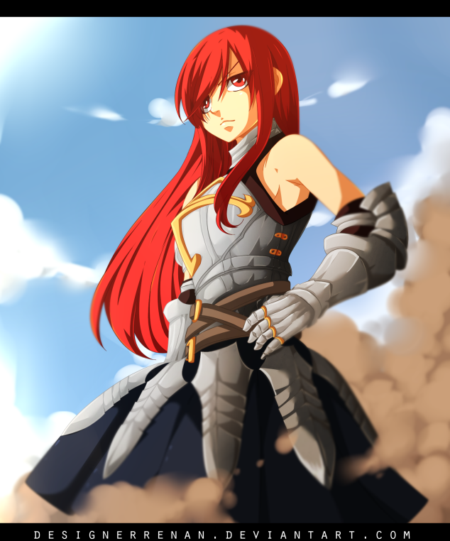 Fairy Tail 438 Erza Seventh Guild Master by designerrenan