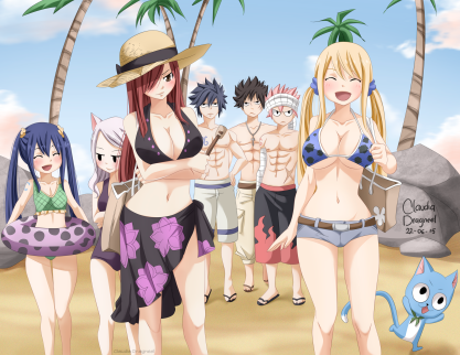 Fairy Tail 441 Caracolle Island by claudiadragneel