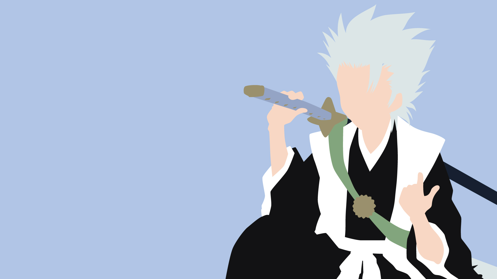 Hitsugaya Toshiro Bleach Minimalistic Wallpaper by ...