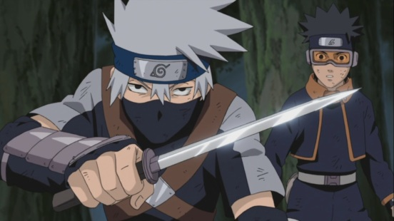 Kakashi saves Obito