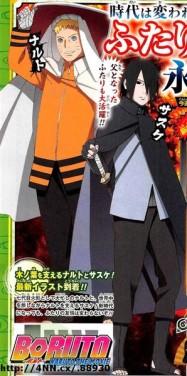 Naruto and Sasuke in Boruto Naruto the Movie