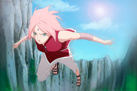 Naruto Gaiden 5 Sakura approaches by byclassicdg