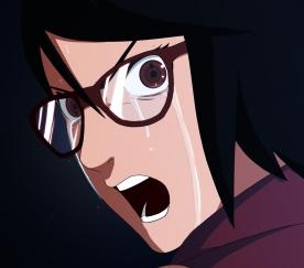 Naruto Gaiden 7 Sarada cries by mekanel