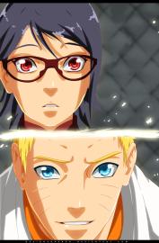Naruto Gaiden 8 Naruto Sarada by designerrenan