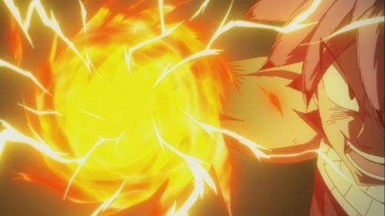 Natsu's Fire Lightning Attack