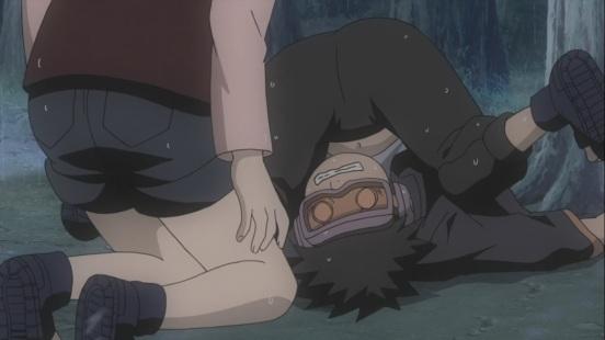 Obito falls down