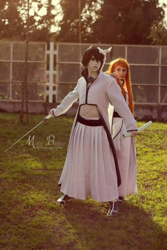 Orihime and Ulquiorra Bleach Cosplay by Asteria91