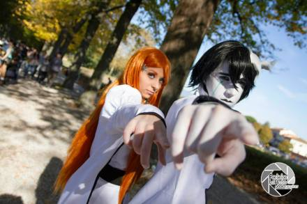 Orihime and Ulquiorra Cosplay Bleach by Asteria91
