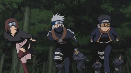 Kakashi, Obito and Rin! First Mission – Naruto Shippuden 416