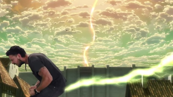 Shiaf farts Titan Transformation in Attack on Titan