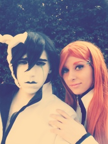 Ulquiorra and Orihime Bleach Cosplay by Asteria91