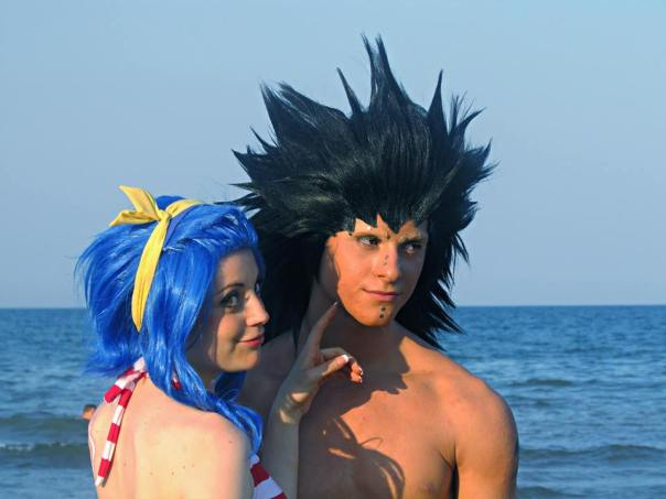 Cosplay Gajeel and Levy Fairy Tail by FrenkieRedfoxValla