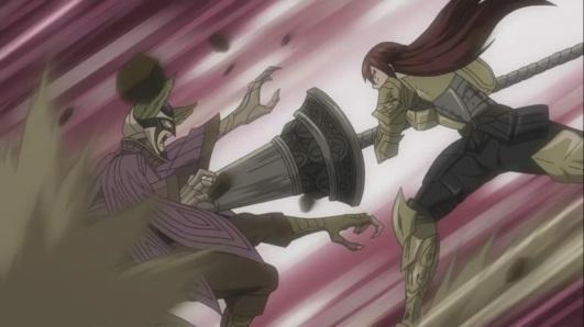 Erza fights Kyouka