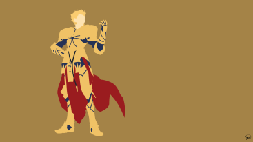 Gilgamest Fate Stay Night Minimalist Wallpaper by greenmapple17